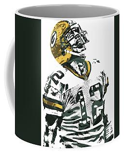 Aaron Rodgers Green Bay Packers Pixel Art 4 Coffee Mug by Joe Hamilton