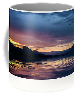 Coffee Mug featuring the photograph Across The Clouds I See My Shadow Fly by John Poon