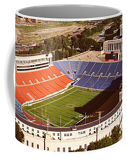 Aerial View Of A Stadium, Soldier Coffee Mug
