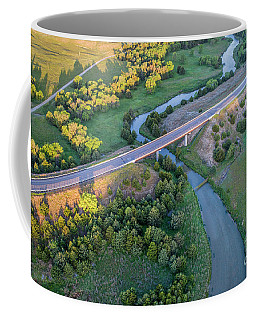 aerial view of Dismal River in Nebraska Coffee Mug