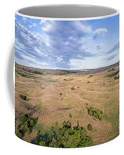 aerial view of Nebraska Sandhills  Coffee Mug