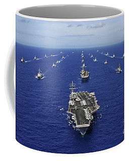 Coffee Mug featuring the photograph Aircraft Carrier Uss Ronald Reagan by Stocktrek Images