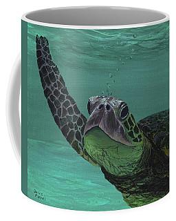 Coffee Mug featuring the painting Aloha From Maui by Darice Machel McGuire