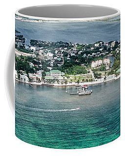Coffee Mug featuring the photograph Ambergris Caye Aerial View by Lawrence Burry