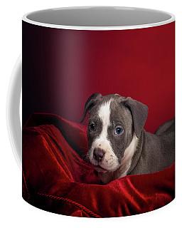 American Pitbull Puppy Coffee Mug by Peter Lakomy