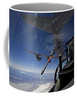 An F-15 Eagle Pulls Into Position Coffee Mug