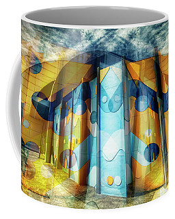 Coffee Mug featuring the photograph Architectural Abstract by Wayne Sherriff