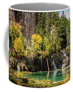 Autumn At Hanging Lake Waterfall - Glenwood Canyon Colorado Coffee Mug