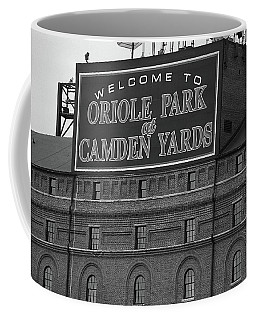 Baltimore Orioles Park At Camden Yards Bw Coffee Mug