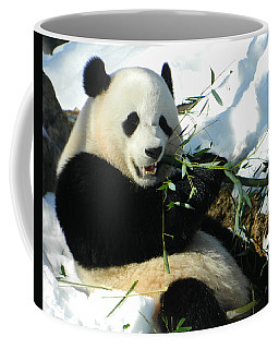 Bao Bao Sittin' In The Snow Taking A Bite Out Of Bamboo1 Coffee Mug