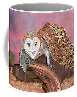 Barn Owl Coffee Mug by Walter Colvin