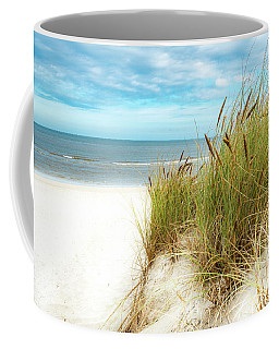 Coffee Mug featuring the photograph Beach Grass by Hannes Cmarits