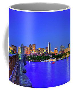 Coffee Mug featuring the photograph Boston Skyline From The Charles River by Joann Vitali