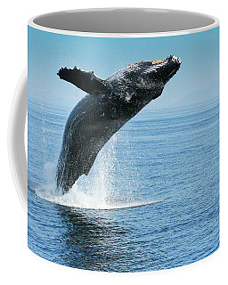 Breaching Humpback Whales Happy-1 Coffee Mug
