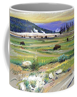 Buffaloes In Yellowstone Coffee Mug