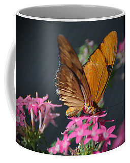 Coffee Mug featuring the photograph Butterfly by Savannah Gibbs