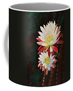 Coffee Mug featuring the painting Cereus Business by Marilyn Smith