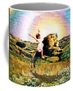 Coffee Mug featuring the digital art Child Like Faith by Dolores Develde