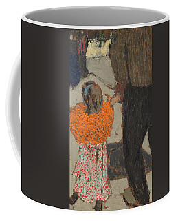 Child Wearing A Red Scarf Coffee Mug