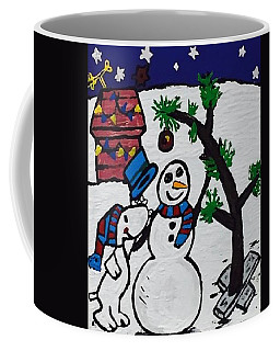 Christmas Card Canvas Artwork Coffee Mug by Jonathon Hansen