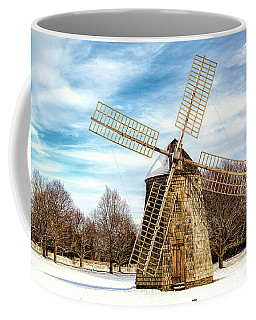 Coffee Mug featuring the photograph Corwith Windmill Long Island Ny Cii by Susan Candelario
