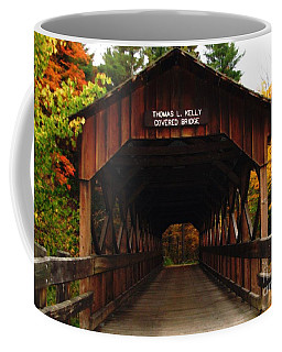 Coffee Mug featuring the photograph Covered Bridge At Allegany State Park by Rose Santuci-Sofranko