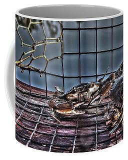 2 Crabs In Trap Coffee Mug
