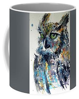 Cute Owl Coffee Mug by Kovacs Anna Brigitta