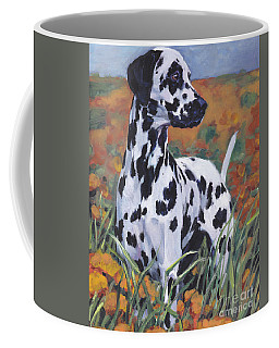 Coffee Mug featuring the painting Dalmatian by Lee Ann Shepard