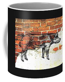 Coffee Mug featuring the photograph Danish Duroc Boar by Larry Campbell