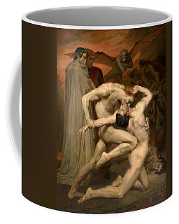 Coffee Mug featuring the painting Dante And Virgil In Hell  by William-Adolphe Bouguereau