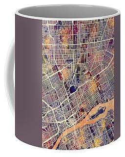 Detroit Michigan City Map Coffee Mug