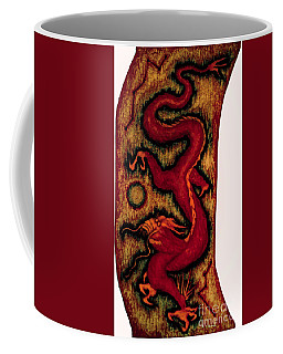 Coffee Mug featuring the painting Dragon by Fei A