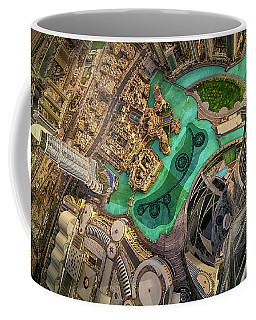 Dubai Downtown Aerial View By Sunset, Dubai, United Arab Emirates Coffee Mug