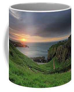 Coffee Mug featuring the photograph Dunnottar Castle At Sunrise by Maria Gaellman