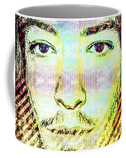 Coffee Mug featuring the mixed media Ezra Miller by Svelby Art