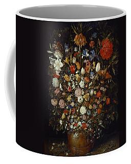 Flowers In A Wooden Vessel Coffee Mug