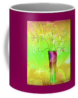 Coffee Mug featuring the digital art Garden Vase by Iris Gelbart