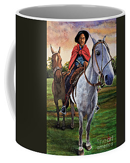 Coffee Mug featuring the painting Gaucho Argentino by Bernardo Galmarini