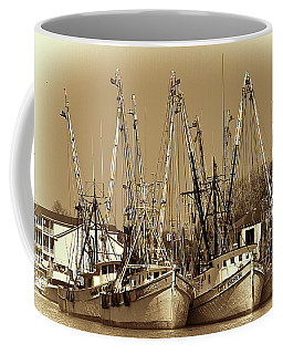 Coffee Mug featuring the photograph Georgetown Shrimpers by Bill Barber