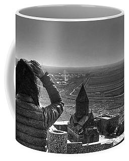 Coffee Mug featuring the pyrography Georgia by Yury Bashkin
