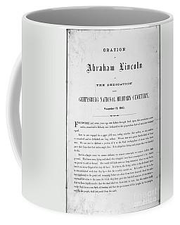 Gettysburg Address, 1863 Coffee Mug