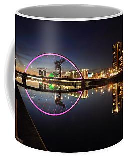 Coffee Mug featuring the photograph Glasgow Clyde Arc Bridge At Twilight by Maria Gaellman