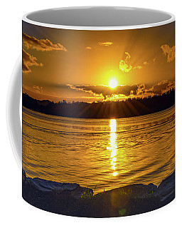 Golden Sunrise Waterscape Coffee Mug