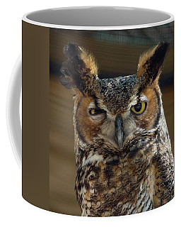 Coffee Mug featuring the photograph Great Horned Owl by John Black