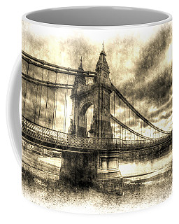 Hammersmith Bridge London Vintage Coffee Mug