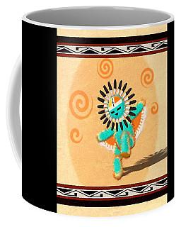 Dancing Hopi Sun Face Kachina Coffee Mug