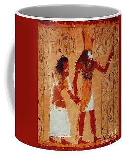 Horus, Egyptian God By Mary Bassett Coffee Mug