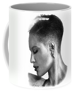 Halsey Drawing By Sofia Furniel Coffee Mug by Sofia Furniel