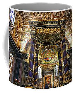 Interior View Of The Basilica Di Santa Maria Maggiore In Rome Italy Coffee Mug